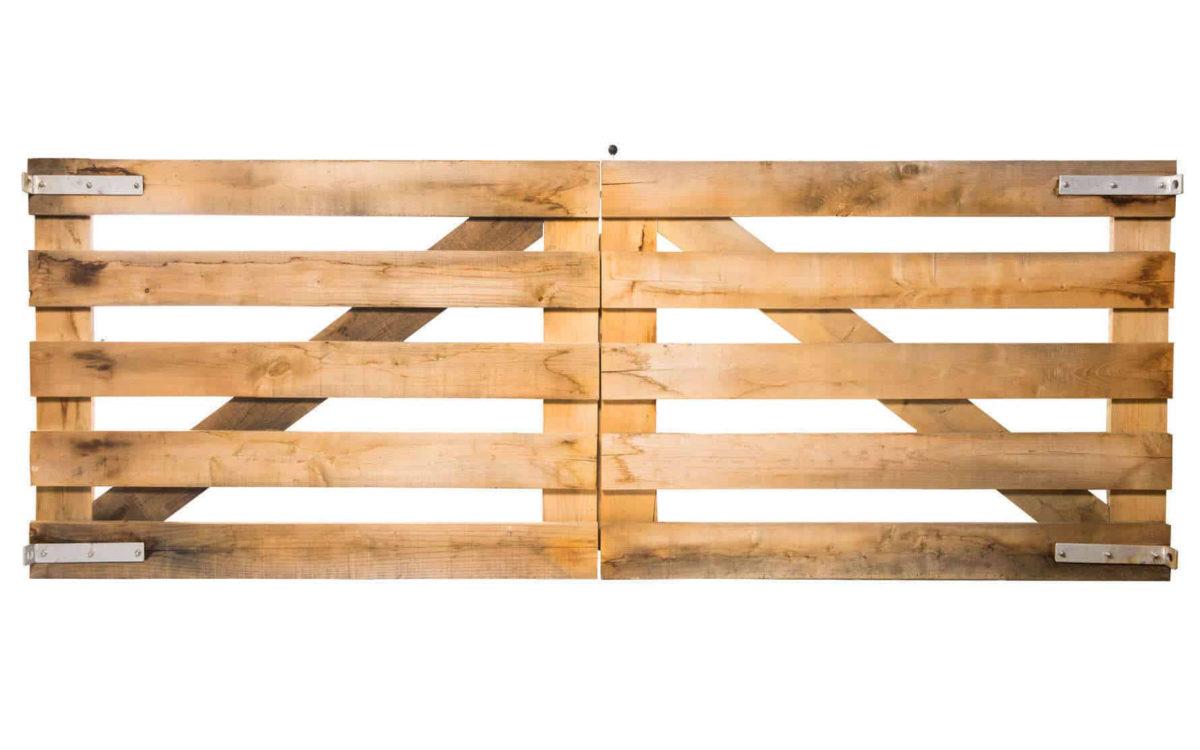 portail rustique double battant chêne